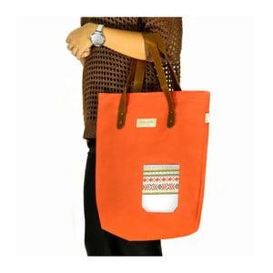 Plátěná taška přes rameno Lodge, oranžová