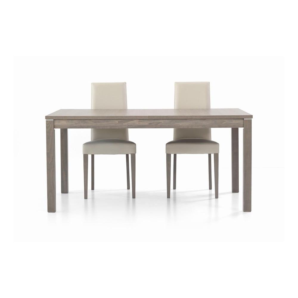 Šedý dřevěný rozkládací jídelní stůl Castagnetti Are, 160 cm