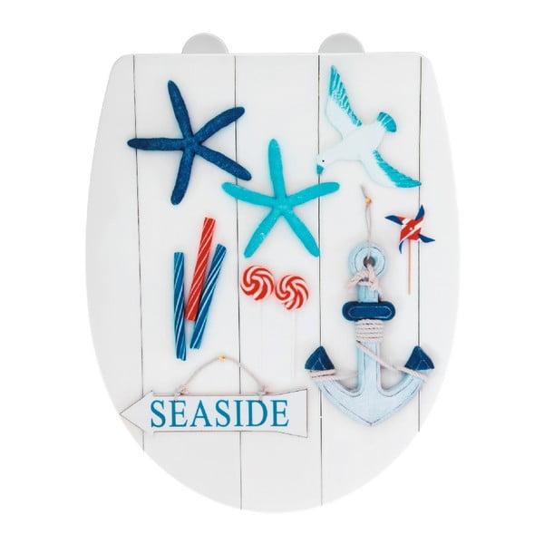 Seaside fényes WC-ülőke, 45 x 36,5 cm - Wenko