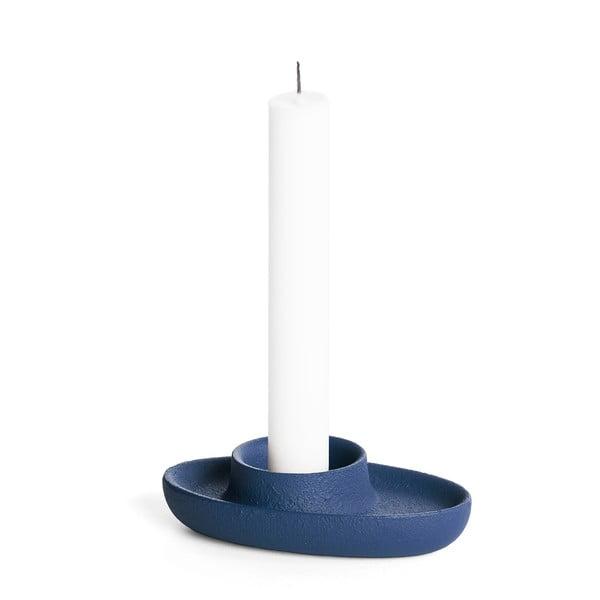 Tmavě modrý svícen EMKO Aye Aye One Candle