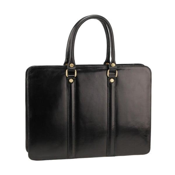 Černá kožená kabelka Ore Diece Bardo