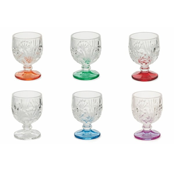 Sada 6 barevných sklenic Villa d'Este Amaretto Liquorini, 40 ml