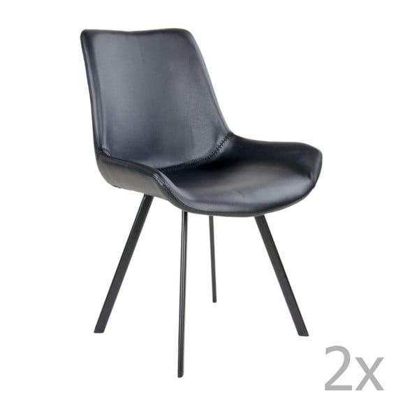 Zestaw 2 czarnych krzeseł House Nordic Drammen