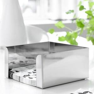 Cutie argintie pentru șervețele Steel Function, mică