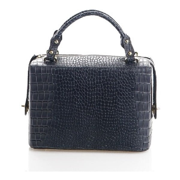Kožená kabelka Emilie, modrošedá