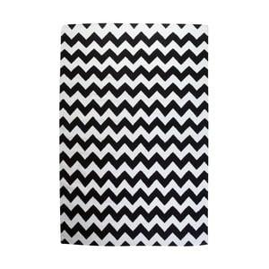 Vlněný koberec Geometry Zic Zac Black & White, 160x230 cm