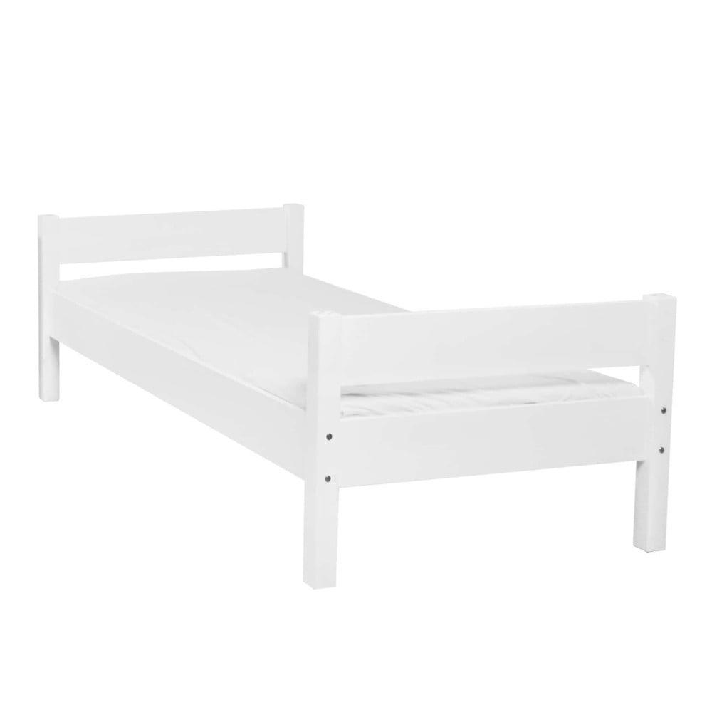 Bílá dětská jednolůžková postel z masivního bukového dřeva Mobi furniture Mia, 200x90cm