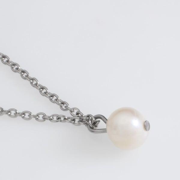 Řetízek s bílou perlou od Lucie Markové od Lucie Markové