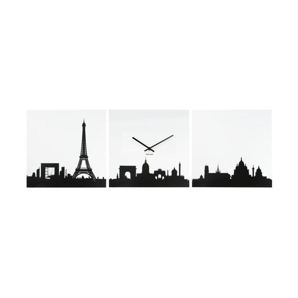 Hodiny Skyline Paris, třídílné