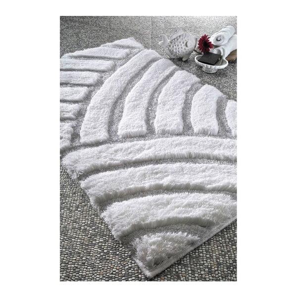 Koupelnová předložka Kanya White, 60x100 cm
