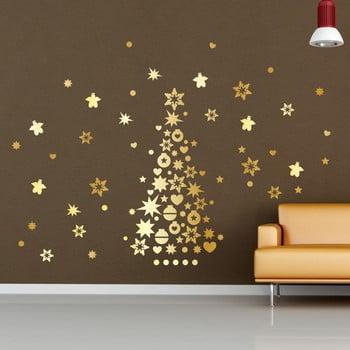 Autocolant Crăciun Ambiance Golden Christmas Tree and Stars de la Ambiance