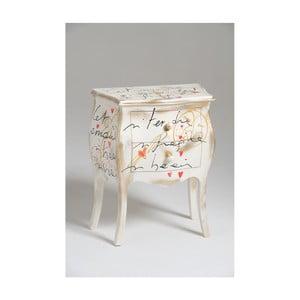 Noptieră din lemn cu 2 sertare Castagnetti Renoir, alb