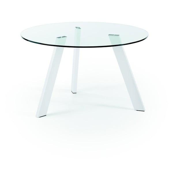 Jídelní stůl s bílými nohami La Forma Columbia, průměr 130 cm