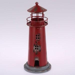 Kovový závěsný svícen Red Lighthouse, 22 cm