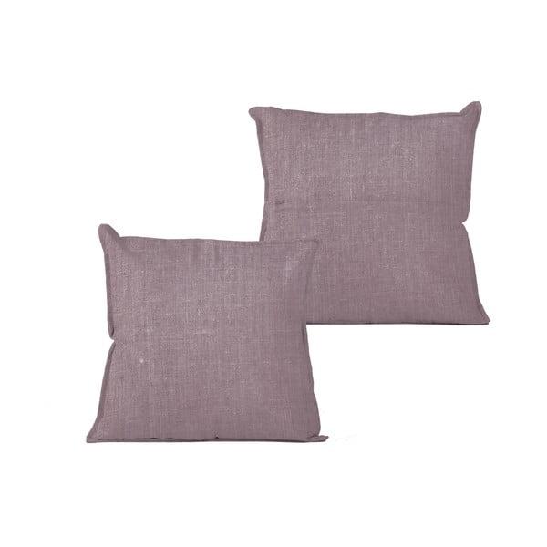 Fialový polštář Linen Couture Violet,45x45cm