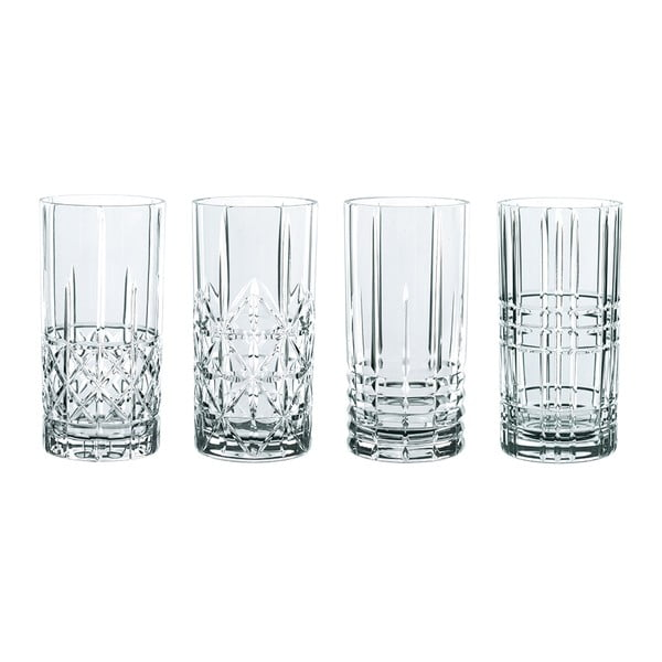 Set 4 pahare din cristal Nachtmann Highlands, 445 ml