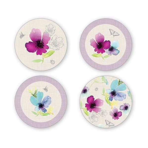 Sada 4 porcelánových podšálků Cooksmart England Chatsworth Floral