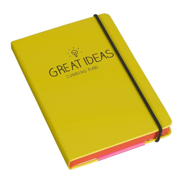 Agendă A5 Happy Jackson Great Ideas Yellow