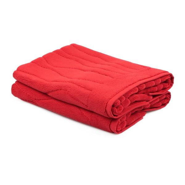 Zestaw 2 czerwonych ręczników Beverly Hills Polo Club Gartex, 50x75cm