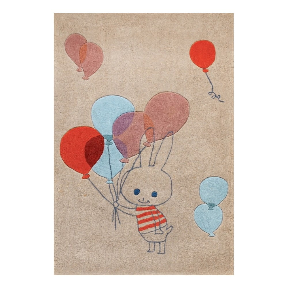 Koberec Art For Kids Balloon Rabbit, 110 x 160 cm