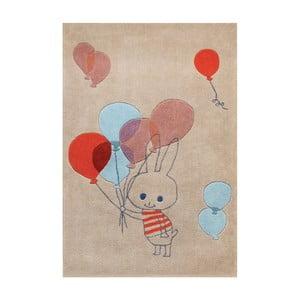 Ručně tuftovaný koberec Art For Kids Balloon Rabbit, 110x160cm