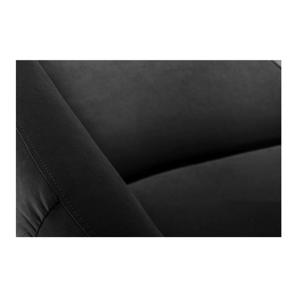 Pohovka Stella Black s lenoškou na pravé straně