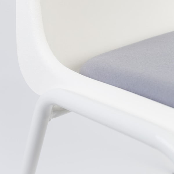 Židle Back to Gym, bílá/šedá