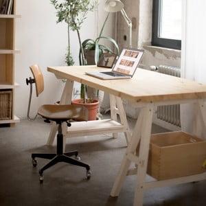 Stůl Stemke na bílých podstavcích, 210 cm