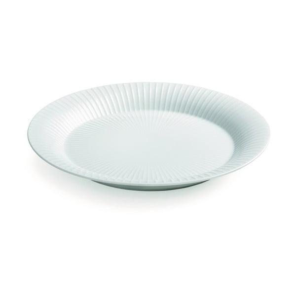 Biely porcelánový tanier Kähler Design Hammershoi, ⌀ 19 cm