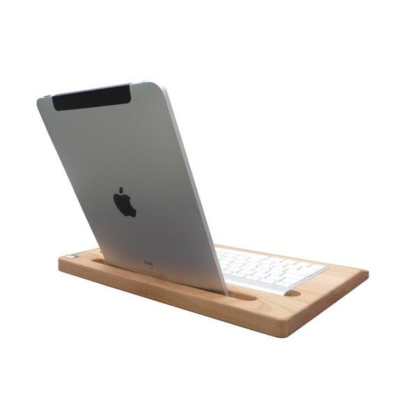 Dřevěný stojan na iPad, třešeň