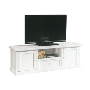 Măsuță TV din lemn Castagnetti, alb