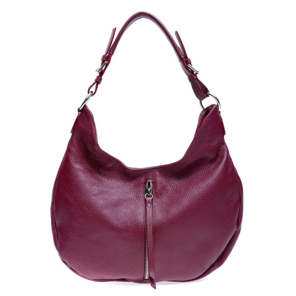 Červená kožená kabelka Roberta M Beatrice