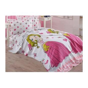 Cuvertură din bumbac pentru copii Princess, 160 x 235 cm, roz imagine