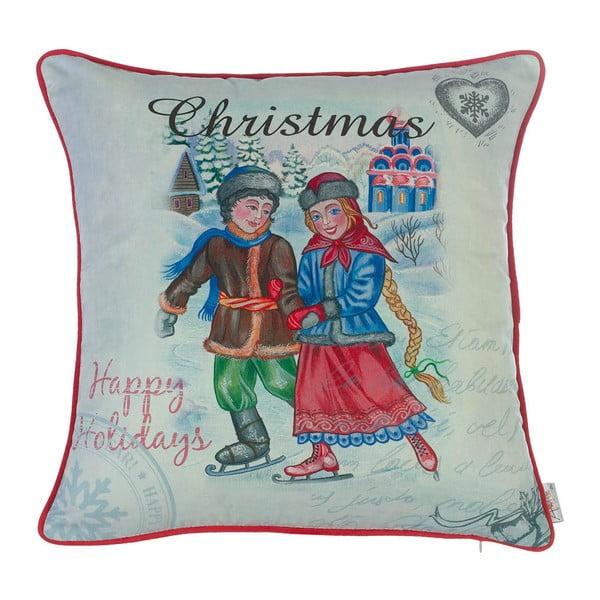 Vianočná obliečka na vankúš Apolena Comfort Skating, 43×43 cm