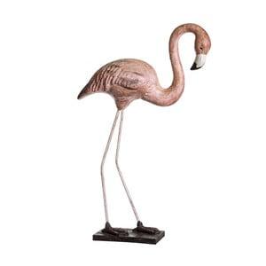 Dekorativní soška Denzzo Flamingo, výška90,5cm