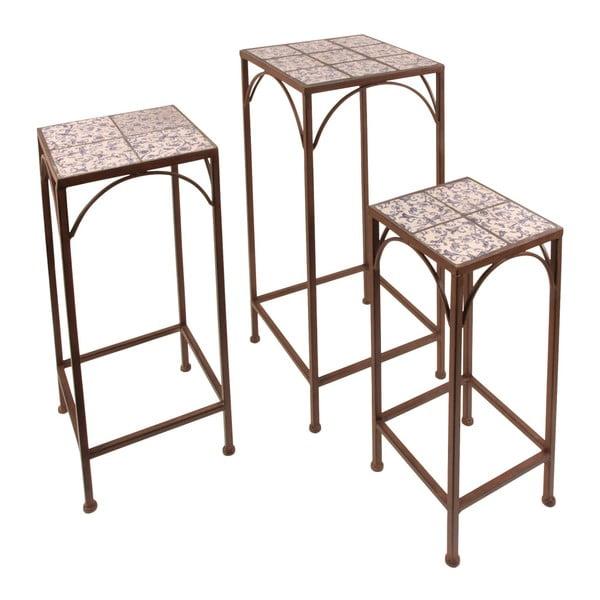 Sada 3 odkládacích stolků s keramickým povrchem Esschert Design Trio
