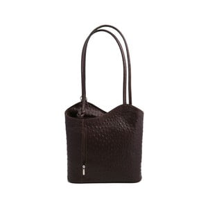 Tmavě hnědá kabelka z pravé kůže GIANRO' Straight