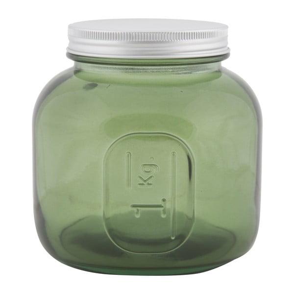 Zelená dóza z recyklovaného skla Mauro Ferretti Coperchio, ⌀ 13 cm