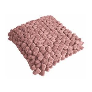Růžový polštář ZicZac Pebble, 45x45cm