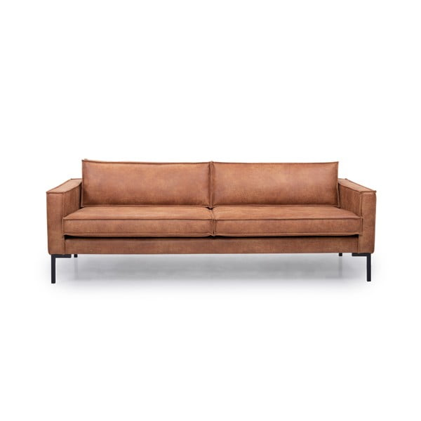 Jasnobrązowa 3-osobowa sofa Softnord Rate