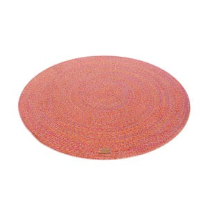 Červený kulatý koberec Hawke&Thorn Parker