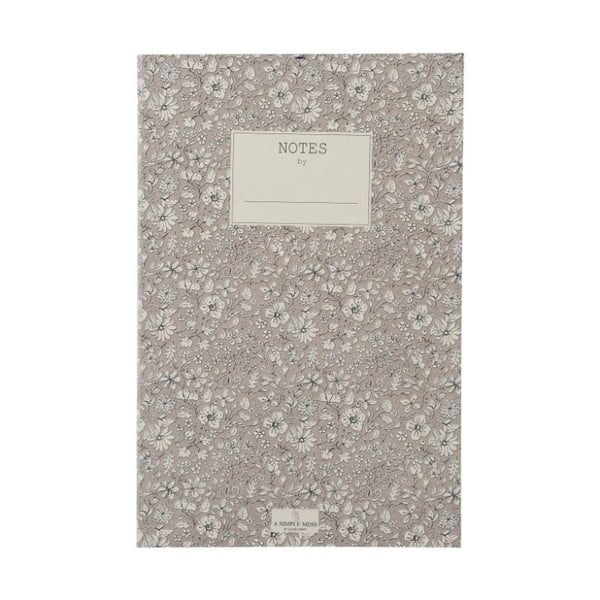 Zápisník A Simple Mess Nynne Ashes Roses, 21x14cm