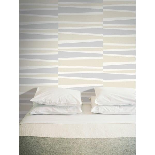 Vliesová tapeta Lounge 0,53x10,05 m, krémová a světlá šedá