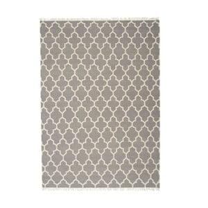 Šedý ručně tkaný vlněný koberec Linie Design Arifa, 200x300cm