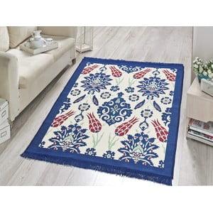 Koberec Blue Floral, 60x90 cm