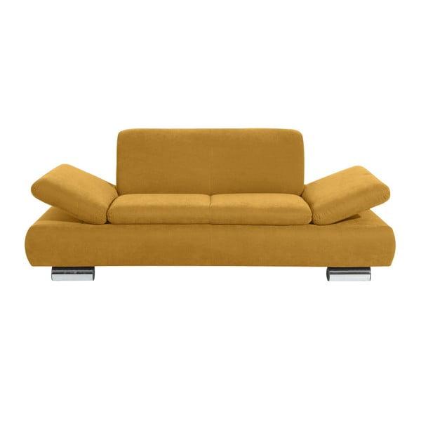 Canapea cu 2 locuri Max Winzer Terrence Anderson, cotiere ajustabile, galben