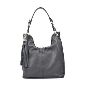 Černá kožená kabelka Carla Ferreri Paola