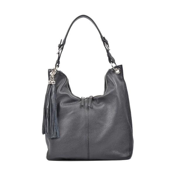 Čierna kožená kabelka Carla Ferreri Paola