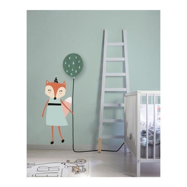 Nástěnná lampa s nálepkou Little Nice Things Fox Lady