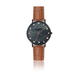 Dámské hodinky s hnědým páskem z pravé kůže Emily Westwood Noir